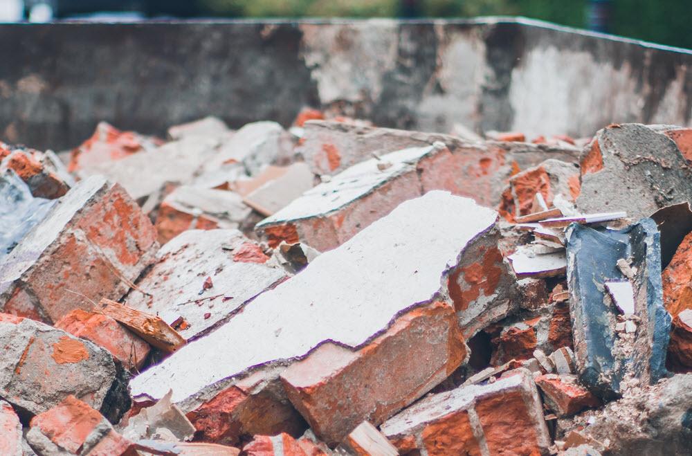 contenedor de escombros